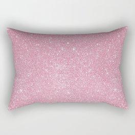 Pastel Pink Glitter Rectangular Pillow