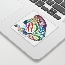 Rainbow Stripes Sticker