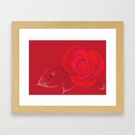 Rosa Ingrid Bergman Framed Art Print
