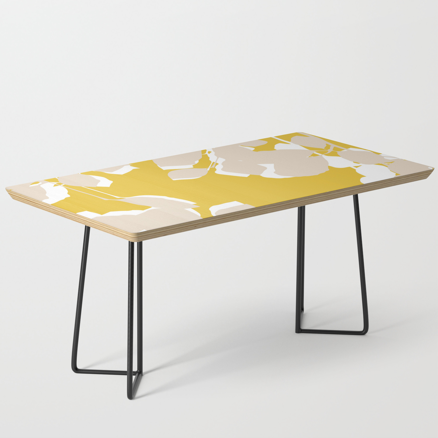 Leave Mustard Yellow Coffee Table By Aldariartstudio Society6