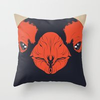 penguin Throw Pillows featuring Penguin by CranioDsgn