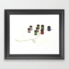 Thread Framed Art Print