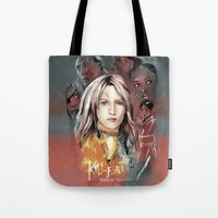 kill bill Tote Bags featuring Kill Bill by RJ Artworks