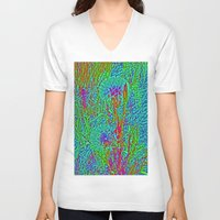 plants V-neck T-shirts featuring Plants by Anne Millbrooke