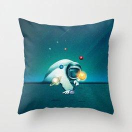 Astronaut Billards Throw Pillow