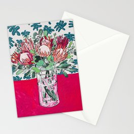 Bouquet of Proteas with Matisse Cutout Wallpaper Stationery Cards
