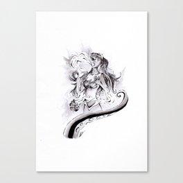 Poor Unfortunate Soul Inktober Drawing Canvas Print