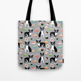 boston terrier sushi dog lover pet gifts cute boston terriers pure breeds Tote Bag