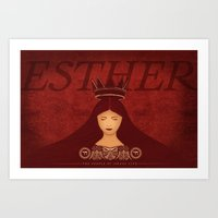Esther Confronts Xerxes (by Lindsey McCormack Art Print