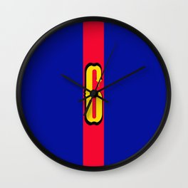 football team 1 number six Wall Clock