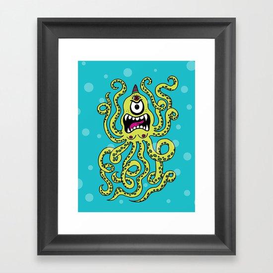 Monster Week, Day 2 Framed Art Print