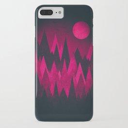 Dark Triangles (Peak Woods) Abstract Grunge Mountains Design (red/black) iPhone Case