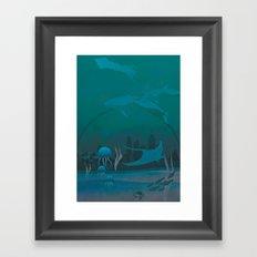 THE DOME - Fantasy | Animals | underwater | Ocean | Sci-fi | Whales | Ocean  Framed Art Print