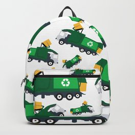 Garbage Truck Toys Truck Pattern Backpack