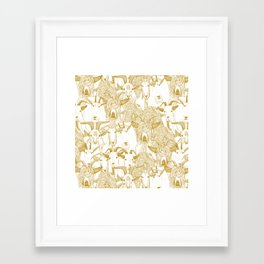 just goats gold Framed Art Print