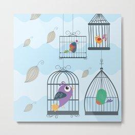 Birdcage Metal Print