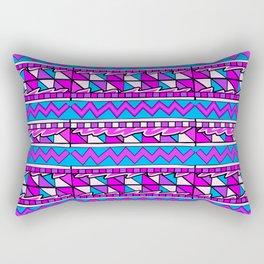 Latin American Pattern Pink Purple Blue. Funky Art. Colourful Pattern Rectangular Pillow