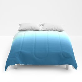 Sea blue Ombre Comforters