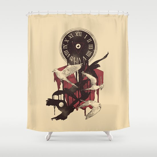 Existence in Time and Space Shower Curtain