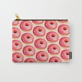 Strawberry Donut Pattern Carry-All Pouch