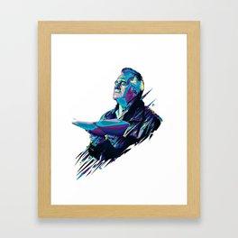 Paulie Walnut // OUT/CAST Framed Art Print