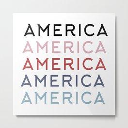 America T-Shirt Metal Print