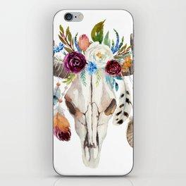 Dreamcatcher skull feathers & flowers iPhone Skin
