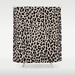 Tan Leopard Shower Curtain