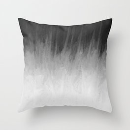 Ice Rays in a Black Sky Throw Pillow
