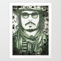 johnny depp Art Prints featuring Johnny Depp by LisilV