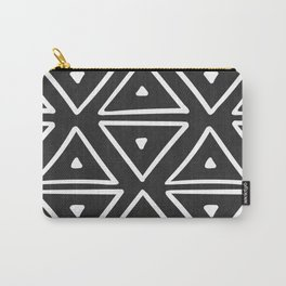 Big Triangles in Black and White Carry-All Pouch