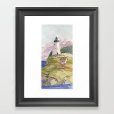 Peaceful Lighthouse II Framed Art Print