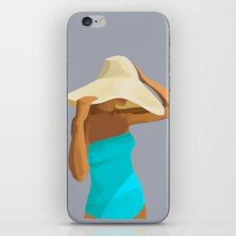 At the Beach: Aqua suit iPhone Skin