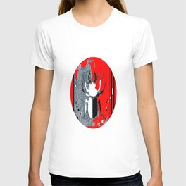 Staghorn Beetle in Red T-shirt