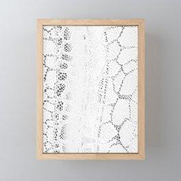 White Snake Skin Framed Mini Art Print