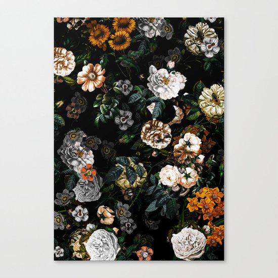 Floral Night Garden Canvas Print
