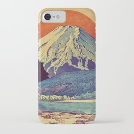 The Red Sunrise at Dayai Shore iPhone Case
