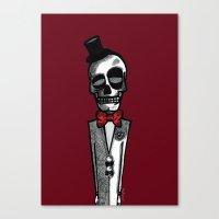 gentleman Canvas Prints featuring Gentleman by Skullmuffins
