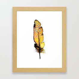 Orange Feather Framed Art Print