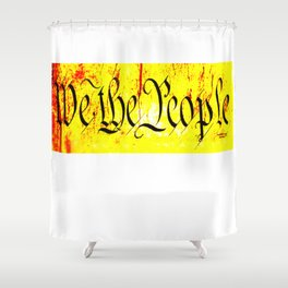 We The People jGibney The MUSEUM Society6 Gifts Shower Curtain
