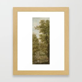Three wall hangings with a Dutch landscape Framed Art Print