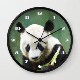 Painting Panda Bear Long Hui Wall Clock