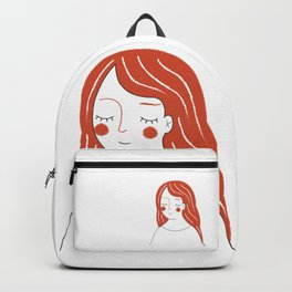 Red Haired Woman Backpack
