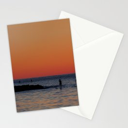 Paddleboarding Pairs - Mackinzie Beach Sunset Stationery Cards