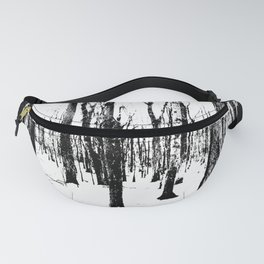 Trees in the Snow (B&W) Fanny Pack
