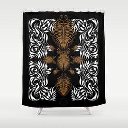 filligree fossils Shower Curtain