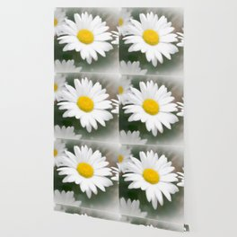 Daisies flowers in painting style 9 Wallpaper