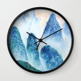dawn in the mountain forest Wall Clock