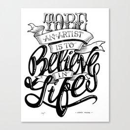Quote - HMoore 1 - Typedesign Canvas Print