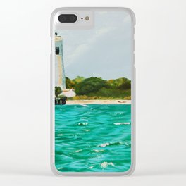 Egmont Key Lighthoues Painting Clear iPhone Case